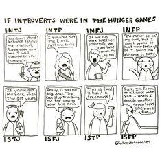 """Introvert Doodles: Introvert Hunger Games - I'm an INFJ, and this is too true. Mehr zum Thema """"Coaching"""" und Persönlichkeit gibt es auf LernCoaching-Berlin.com"""