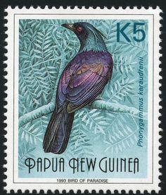 Pájaros en sellos: Papua Nueva Guinea 1993