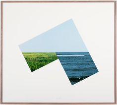 """New Horizon"" by Jan Dibbets. Gorgeous framing."