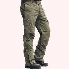 Airborne Jeans Casual Plus Size Cotton - Jungleecart.com