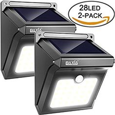Solar Lights Outdoor Motion Sensor, iThird LED Solar Powered Security Lights Stainless Steel for Yard Patio Garage Waterproof 3 Modes Super Bright(Daylight) Solar Powered Security Light, Led, Solar Garden Lanterns, Solar Licht, Thing 1, Electrical Wiring, Light Sensor, Solar Panels, Outdoor Lighting