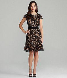 Tadashi Lace Fit & Flare Dress