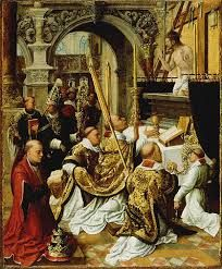 The Mass of Saint Gregory the Great -- Adriaen Ysenbrandt (Netherlandish, active 1510 - -- about 1510 - 1550 -- Oil on panel -- x cm x 11 in. Catholic Art, Catholic Saints, Religious Art, Roman Catholic, Robert Campin, Renaissance, Saint Gregory, Google Art Project, Late Middle Ages