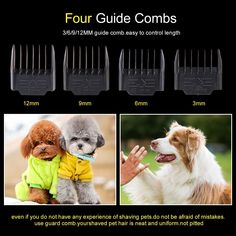 Hansprou Dog Shaver Clippers High Power Dog Clipper Low Noise Plug-in Pet Trimmer Pet Professional Grooming Clippers with Guard Combs Brush for Dogs Cats and Other Animal Dog Grooming Clippers, Power Motors, High Speed, Plugs, Dog Cat, Teddy Bear, Change, Cats, Animals