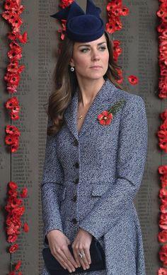 Kate Middleton  ANZAC DAY 25TH APRIL 2014 IN OZ