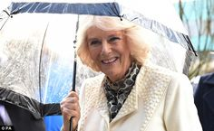 Martial arts: The Duchess of Cornwall arrives at Maggie's where she watched a t'ai chi demonstration.