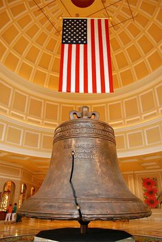 American heritage bell and a beautiful American flag proudly displayed.   #myfreedommyfamily