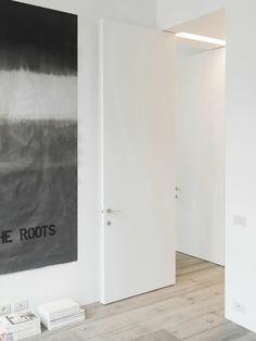 interior design ideen weiße innentüren hoch minimalistisch