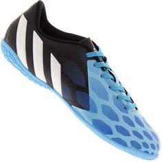 339cd67932d Chuteira Adidas Predito Instinct Futsal Indoor Masculina Azul   Preta