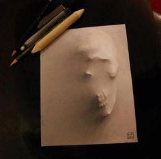 3d skull sketch