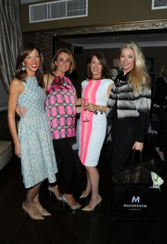 Heather Kerzner, Helen Hughes, Sara Madderson and Tamara Beckwith at Beaufort House for our SS14 RTW launch party