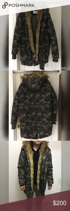 ASOS Sixth June Parka with Faux Fur Hood & Lining ASOS Sixth June Parka with Faux Fur Hood & Lining - men's size Medium.  In like-new condition, no rips, stains or tears. ASOS Jackets & Coats
