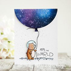 Video - Ink Blending Night Sky (on cards 4 + ME) Scrapbook Sketches, Scrapbook Cards, Scrapbooking, Card Making Inspiration, Making Ideas, Mama Elephant Stamps, Cute Cards, Pretty Cards, Out Of This World