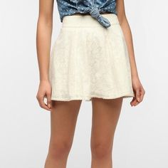 SALEKimchi Blue Urban Outfitters lace skirt Kimchi Blue (Urban Outfitters) cream/pale yellow lace circle skirt. Size 6. Perfect condition! Sold out in stores. Urban Outfitters Skirts Circle & Skater