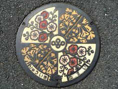 Ornament/order: Japanese manhole cover