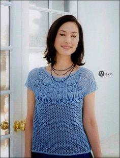 Patrones de blusa crochet