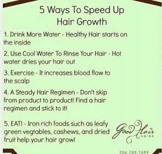5 ways to speed up hair growth