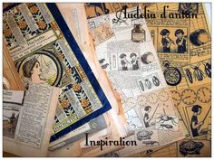 tissu Almanach Audelia d'antan