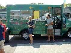 School bus food truck conversion