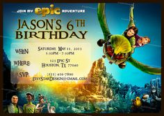 Personalized Bluesky's Epic Movie Birthday by PrintDIYStarDesigns