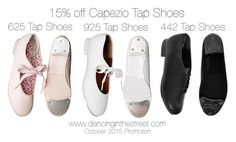 """""""15% off selected Capezio Tap Shoes"""" by dancing-inthe-street ❤ liked on Polyvore featuring mode, Capezio en modern"""