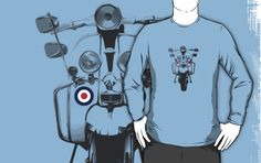 Mod Scooter shirt by bkxxl