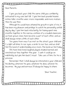 48 Best Letter To Parents images in 2015 | Letter to parents