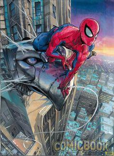Spider-Island Manga variant cover by Yusuke Murata (Eyeshield 21).