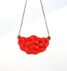 Sailor's Knot Necklace Red Satin, $27 from elfinadesign