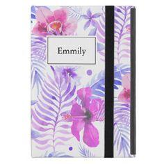 Tropical Nature Flower Watercolor iPad Mini Cover - patterns pattern special unique design gift idea diy
