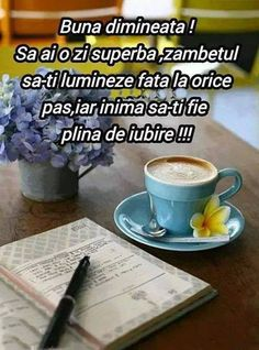 Afbeelding: Cafeaua e gata! Buna dimineata! - de vimanca Good Morning Cards, Months In A Year, Motto, Religion, Gifs, Night, Funny, Good Morning Quotes, Have Faith
