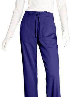 Grey's Anatomy Women's Junior 4-Pocket Elastic Back Solid Scrub Pants #scrubs #nursestyle #hospitalstyle #greysanatomy
