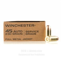 Winchester 45 Auto Ammo - 500 Rounds of 230 Grain FMJ Ammunition #45ACP #45ACPAmmo #Winchester #WinchesterAmmo #Winchester45ACP #FMJ