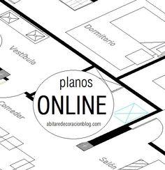 Abitare Decoración / Planos ONLINE http://abitaredecoracionblog.com/