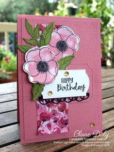 Poppy Party Day Rococo Rose meets Stampin' Up! Painted Poppies Bundle Stampin Up Painted Poppies Bundle. Gift with Purchase Jan . Claire Daly Independent Stampin Up Demonstrator Melbourne Australia Paper Craft Supplies, Scrapbook Supplies, Scrapbook Organization, Scrapbooking Ideas, Paper Crafting, Poppy Cards, Birthday Crafts, Stamping Up Cards, Pretty Cards