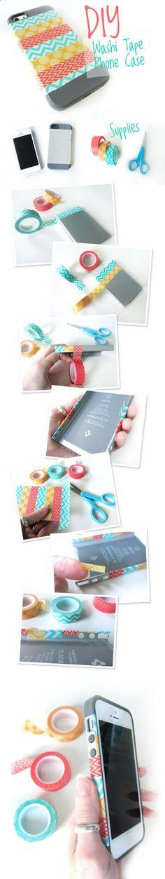 DIY Washi Tape Phone Case