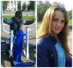 Воскресная прогулка с семьей. Погуляли в парке, зашли на тренажерную площадку, и просто наслаждались солнечным деньком.