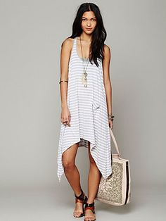291 From Venice Curved Hem Stripe Tunic at Free People Clothing Boutique