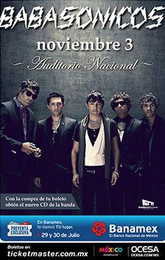 Babasónicos - Domingo 03 de noviembre - Auditorio Nacional, México, D.F.
