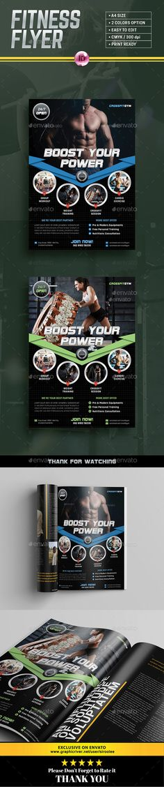 Gym Flyer by siroolee Indesign fitness / gym flyer template can be use to promote your business or other purpose. The file is completely editable. Just