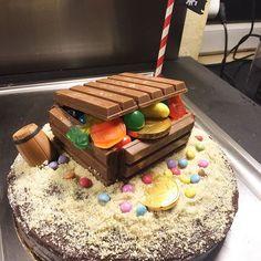Gâteau trésor Pirates Party ☠ #pirates #anniversaire #4ans #birthday #diy #instafood