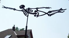 Skeleton Weather-vane designed by Edward Gorey for his home in Yarmouthport, MA. (Via: Goreyana Blog)