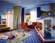 Kids Playroom Ideas with Seascape Theme include Boat