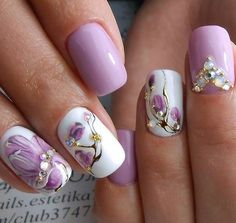 Get floral nail art and you're set to go. The patterns of floral nails art have gotten so intricate that it almost appears effortless. There are an assortment of things that could cause your nails to nice. Cute Spring Nails, Spring Nail Art, Cute Nails, My Nails, Nails 2017, Nail Designs 2017, Nail Designs Spring, Cool Nail Designs, Pretty Designs