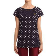 Fred Perry Womens Navy Polka Dot T Shirt