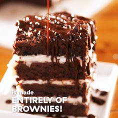 Cookie Dough Cake, Chocolate Chip Cookie Dough, Brownie Recipes, Snack Recipes, Dessert Recipes, Cake Recipes, Lasagna Recipes, Vegan Brownie, Delicious Desserts