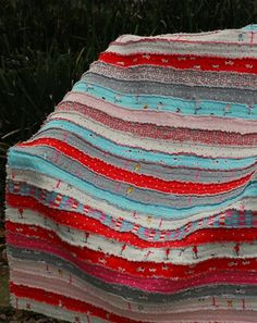 Jelly roll rag quilt..