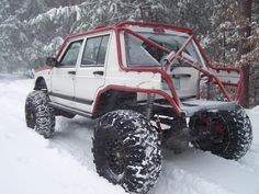 XJ Cherokee convertible? Idk what's happening here, but I can't wait to go four wheeling in the snow