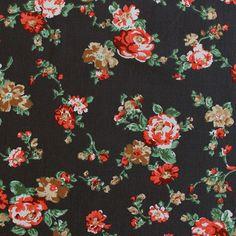 Susannah Floral Grey: 100% lightweight cotton lawn. 140cm wide