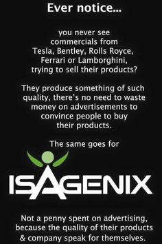 Its an amazing nutrition program that gives unbelievable RESULTS!! www.sarahohm.isagenix.com